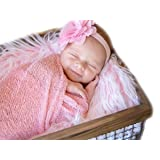 Sunmig Newborn Baby Stretch Wrap Photo Props Wrap-Baby Photography Props (Pink) (Color: Pink, Tamaño: 0-3 Months)