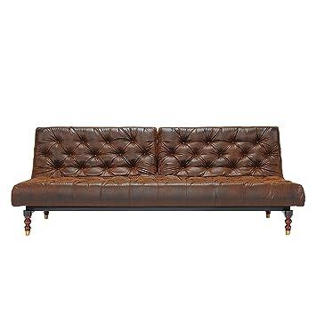 Innovación en el sofá cama de madera con patas de madera de estilo vintage