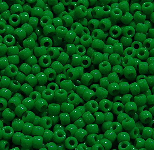 JOLLY STORE Crafts Neon Green Pony Beads 9x6mm 500pc jolly 100g