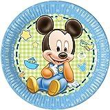 8 Piattini Di Carta Baby Mickey