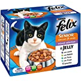 Felix Senior Mixed Selection Wet Cat Food Pouch 12 x 100 g (Pack of 4)