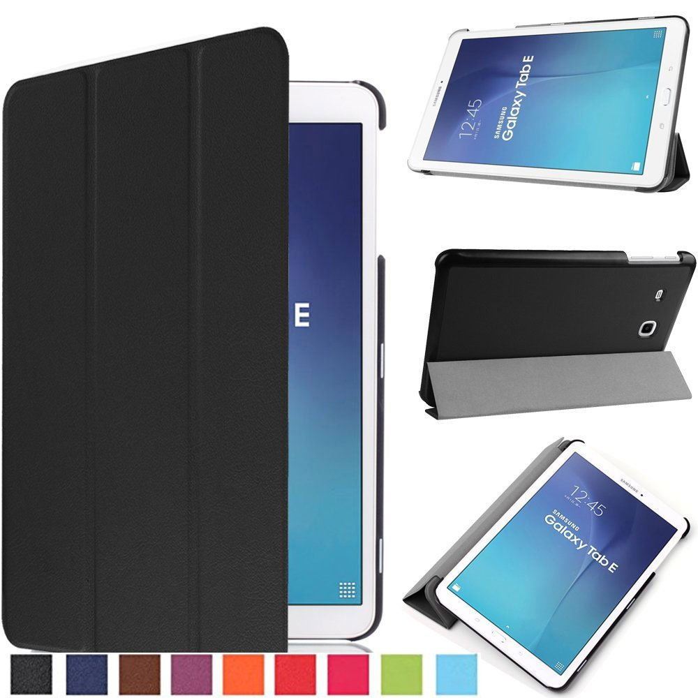 slim smart cover case stand for samsung galaxy tab e 9 6. Black Bedroom Furniture Sets. Home Design Ideas