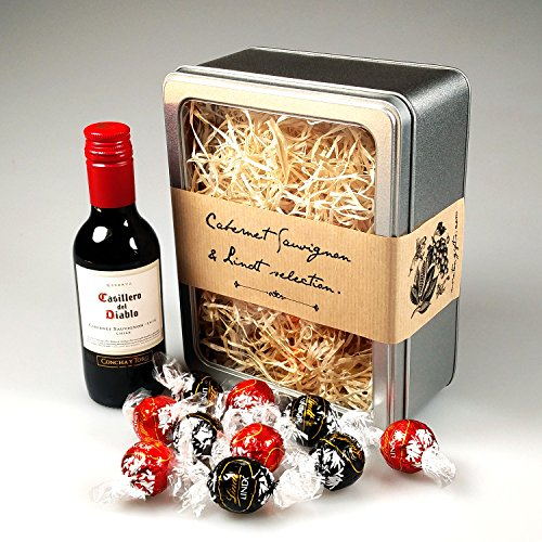 The Red Cabernet Sauvignon Wine & Lindt Selection - Perfect Mother's Day, Father's Day, Birthday, Graduation Gift! - By Moreton Gifts!