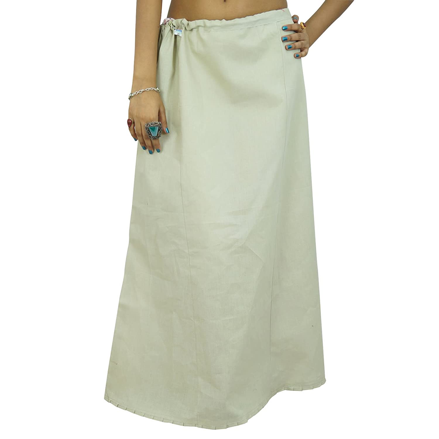 Solide Petticoatunderskirt Bollywood Indian Women Clothing Baumwollfutter Für Sari kaufen