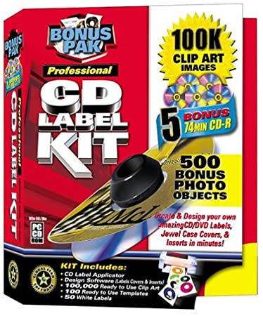 Professional CD Label Kit Bonus Pack