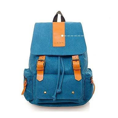 Vintage Casual Canvas Backpack Shoulder Bag Rucksack 7