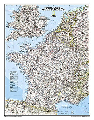 France, Belgium, and The Netherlands Classic [Laminated] (National Geographic Reference Map) (Railway Maps Of The World compare prices)