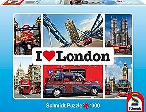 Schmidt Spiele 59283 - I love London, 1000 Teile Puzzle