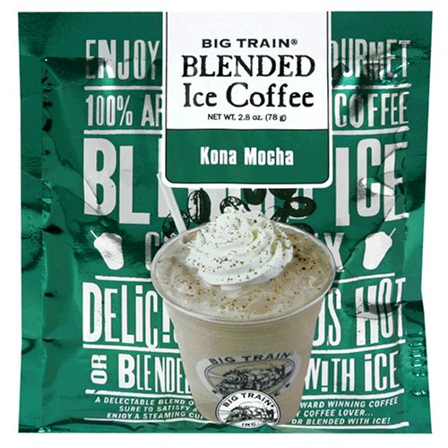 Big Train Blended Ice Coffee, Kona Mocha, 2.8-Ounce Bags (Pack of 25)