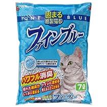 常陸化工 固まる紙製猫砂 ファインブルー 7L