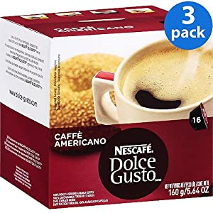 Nescafé Dolce Gusto Caffè Americano, Pack of 3 sets of capsules with 48 servings