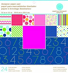 Martha Stewart Crafts Paper Pad, Kids, 12 by 12 Inches, 24 Sheets