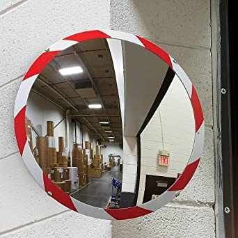 "See All PLX26RT Convex Mirror, Acrylic Plastic Face, High Visibility Edge, Indoor Use, 26"" Diameter"