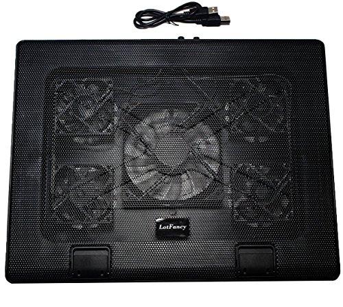 LotFancy 13 - 15.6 Inch Laptop Cooling Pad Cooler Chiller with 5 Fans , Led Light ,Dual USB Port ,6-Levels Adjustable...