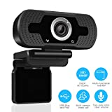LARMTEK 1080P Full HD Webcam,Computer Laptop Camera for Conference and Video Call, Pro Stream Webcam with Plug and Play Video Calling (Color: 1080P Webcam-black)