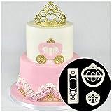 Tmrow 3Pcs Princess Carriage Plastic Fondant Cutter Cake Mold Fondant Mold Fondant Cake Decorating Tools (Color: As picture, Tamaño: As description)