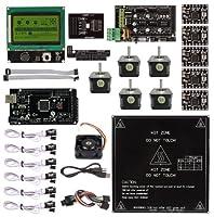 SainSmart Ramps 1.4 + A4988 + MK2B + Mega2560 R3 + LCD 12864 3D Printer Controller Kit for 3D Printers RepRap from SainSmart