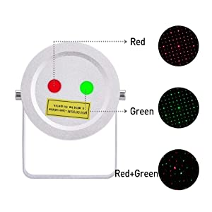 Christmas Laser Lights 2 Color Motion Star Projector with Remote Auto On/Off Timer by Ominilight for Holiday,Party,Wedding,Holloween (Color: 2 Colors)