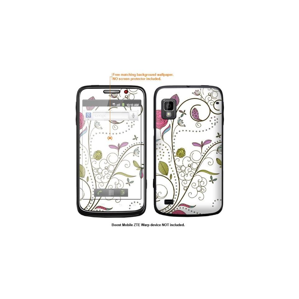 Protective Decal Skin Sticker for ZTE Warp  Boost Mobile version  case cover ZTEwarp 100