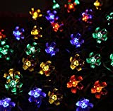 Coresmart Multi Colour 5m 50led string lights colorful String Lights by Solar Powered for Party, Festival, Christmas, Wedding(Flower shape)