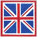 Entertaining with Caspari Union Jack Paper Luncheon Napkins, Pack of 20