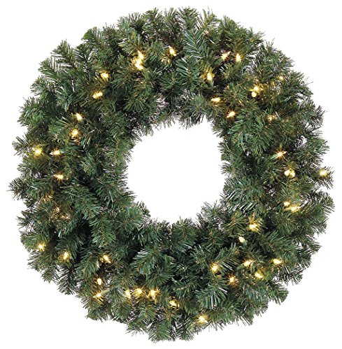30-Inch-Battery-Operated-Cordless-Pre-lit-Christmas-Pine-Wreath-with-50-LED-Clear-Lights-and-Timer