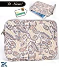PAISLEY PRINT | Universal 10 inch Tablet Bag with Wrist Strap fits 10.1 Dell Latitude. Bonus Ekatomi Screen Cleaner