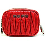 (ミュウミュウ)MIUMIU  コインケース 小銭入れ matelasse lux rosso レディース アウトレット[ブランド][アウトレット品] 5m1353-matlux-rosso [並行輸入品]