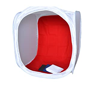 Bestshoot 16 inch/40x40x40 cm Photo Studio Shooting Tent Light Cube Diffusion Soft Box Kit with 4 Colors Backdrops (Red Dark Blue Black White) for Photography