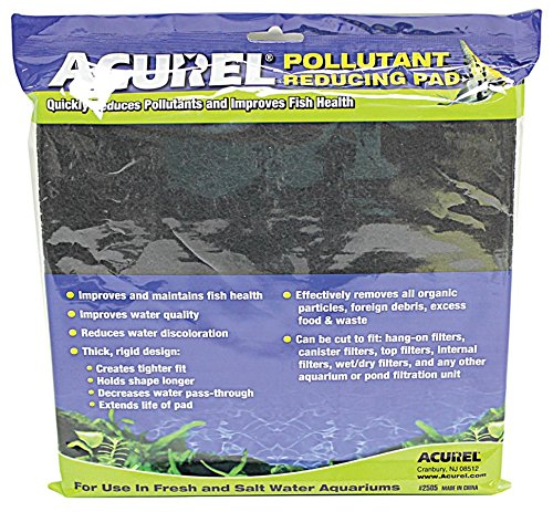 Acurel LLC Pollutant Reducing Media Pad, Aquarium and Pond Filter Accessory, 10-Inch by 18-Inch (Carbon Pads compare prices)