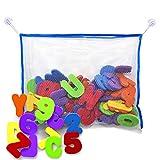 Juguetes para el Ba�o - Letras y n�meros de ba�o con organizador. Los mejores juguetes de ba�o educativos con organizador premium y no t�xico sin BPA en las letras de foami. El regalo perfecto para los ni�os.