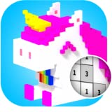 3D Color By Number : VOXEL Coloring