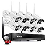 ZOSI 8CH Wireless Security Cameras System With 1TB Hard Drive,8 Channel 960P NVR and (8) HD 960P 1.3MP Outdoor Indoor Home Video Surveillance WiFi Cameras with 100ft Night Vision,Motion Detection (Color: 8CH+8Camera+1TB, Tamaño: 8CH+8Camera+1TB)