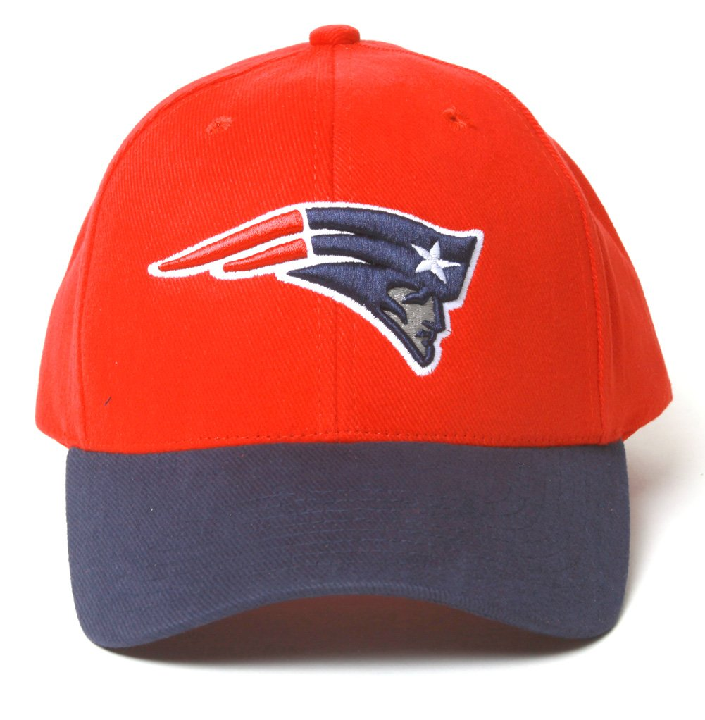 PATRIOTS NFL New England Patriots Curved Bill Velcro Adjustable Hat- Red Navy Bill at Sears.com