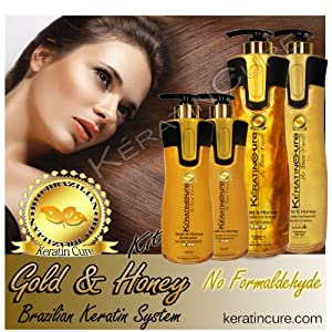 Keratin Brazilian Hair GOLD & HONEY BIO-BRAZILIAN COMPLETE KIT Keratin Cure 460 ML & 960 ML