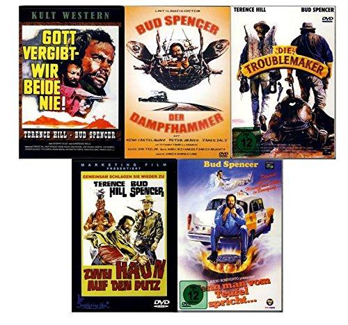 BUD SPENCER & TERENCE HILL - Film Paket (5 Filme Box - Gott vergibt, wir beide nie - Der Dampfhammer - Die Troublemaker - Zwei haun auf den Putz - Wenn man vom Teufel spricht ) [5 DVDs]