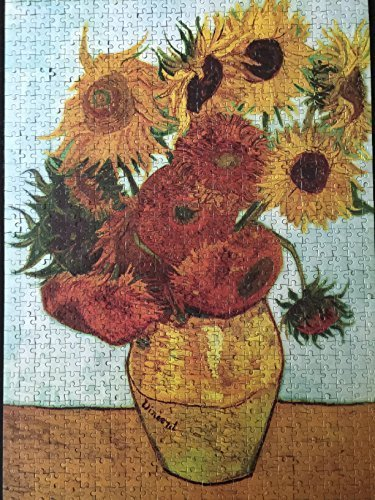 Van Gogh Vase with Twelve Sunflowers Puzzle (1000 Piece Jigsaw) - 1
