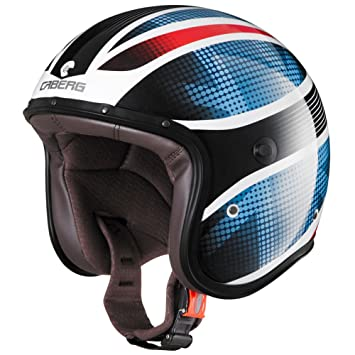 Caberg uK casque jet fREERIDE blanc/bleu/rouge
