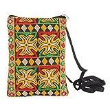 Mela Women`s Embroidered Passport Sling Bag