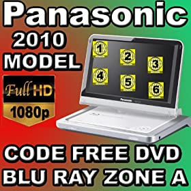 2010 Panasonic DMP-B100 Region Code Free DVD & Blu Ray Player DVD Region 012345678 PAL/NTSC Blu Ray Zone A 100~240V