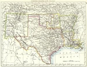 Pin Map Of Oklahoma Arkansas Louisiana And Texas On Pinterest