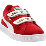 PUMA Unisex Minions Suede Velcro Kids Sneaker, high Risk red White, 1.5 M US Little (Color: High Risk Red-puma White, Tamaño: 1.5 M US Little Kid)