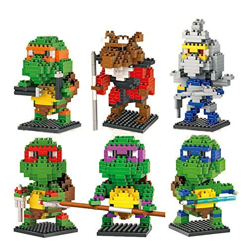 New 6 Box LOZ Diamond Block TMNT Figure Toys