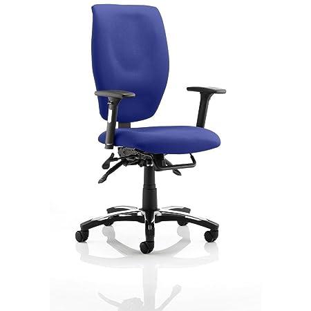 Dinamica kcup0778Sierra Executive–Sedia con braccioli in tessuto nero/Serene