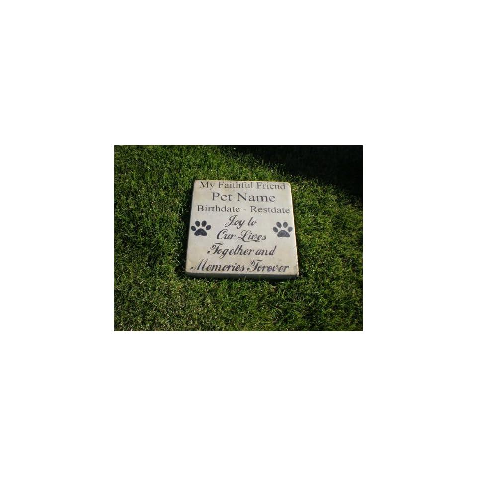 Personalized Engraved Pet Memorial Step Stone 11 Diameter My Faithful Friend