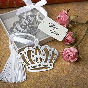 crown design bookmark favors set of 32 baby shower