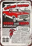 1972 Dodge and Fargo Adventurer Pickup Vintage Look Reproduction Metal Sign