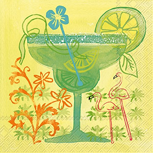 Ideal Home Range 20 Count 3-Ply Paper Fruit Cocktail Napkins, Margarita (Margarita Party Napkins compare prices)