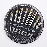 30pcs Assorted Hand Sewing Needles Embroidery Mending Craft Quilt Sew Case