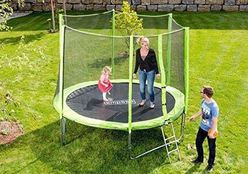 Outdoor Trampolin Gartentrampolin inklusive Sicherheitsnetz Leiter 426 cm 14 ft GRÜN günstig kaufen